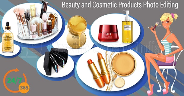 Beauty and Cosmetic Product image editing