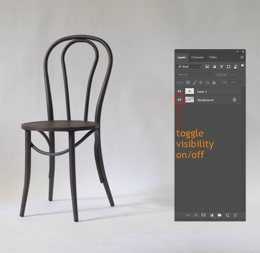 isolate object in photoshop