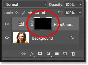 Layer mask thumbnail photoshop transparency control