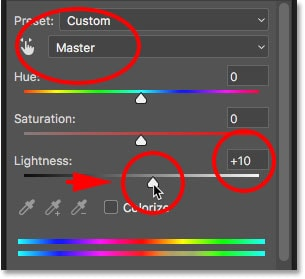 Use the setting and change it to master