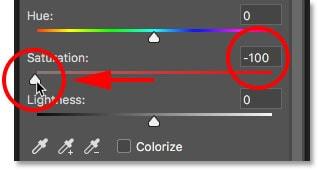 saturation slider neg PS cc