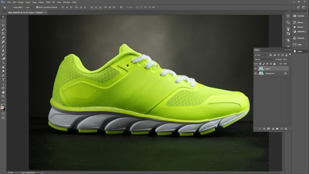 Footwear retouching tutorial step 1
