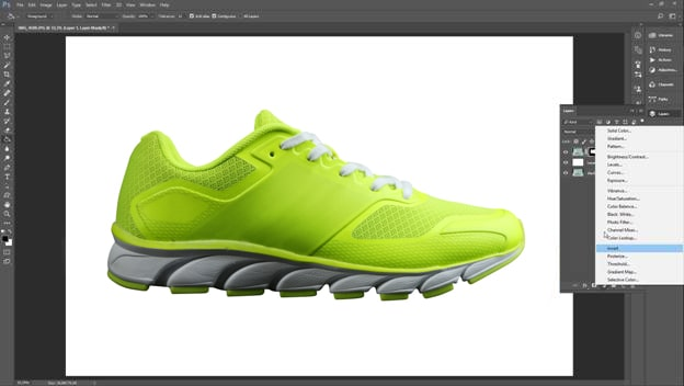 Footwear retouching tutorial step 4