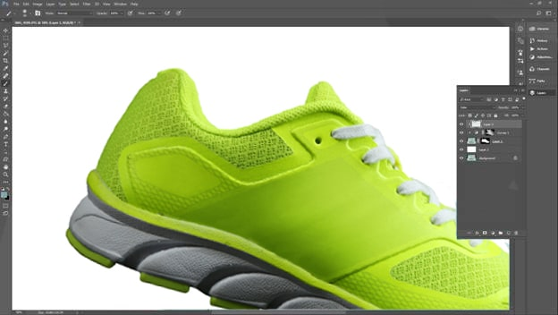 Footwear retouching tutorial step 5