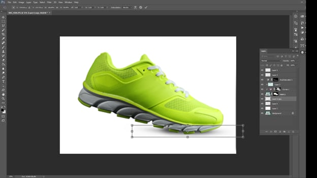 Footwear retouching tutorial step 7