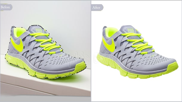 Shoe clipping path