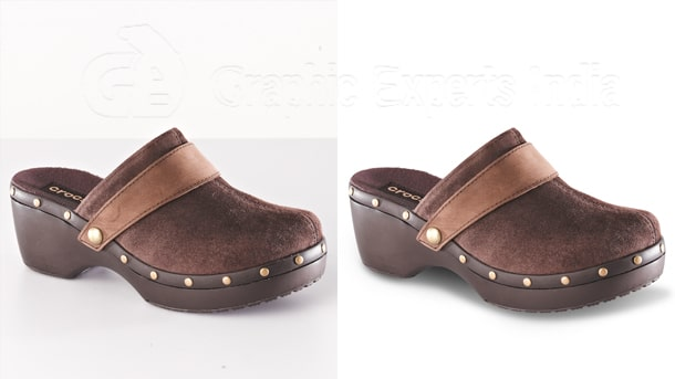 shoe photo editing and retouching