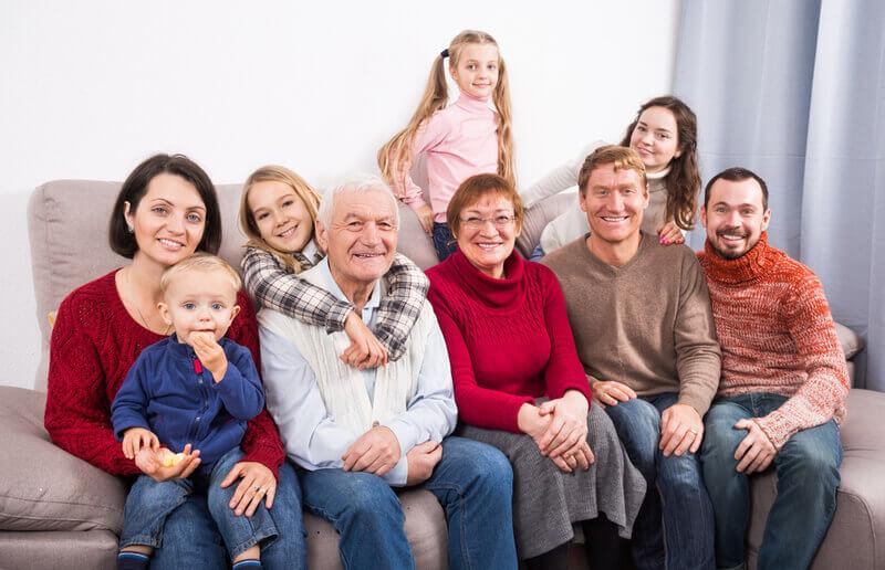 Standard family photograph