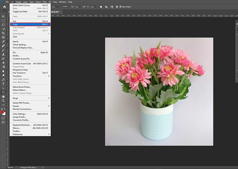 Add Image to an Existing Layer in Photoshop
