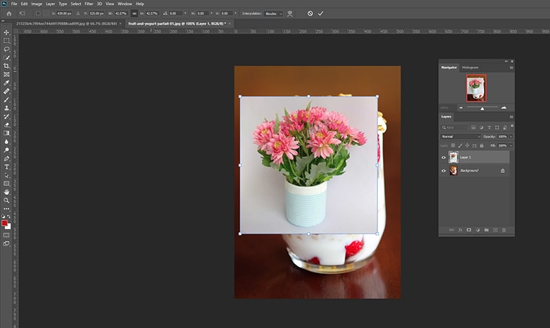 Image appear as a new layer in Photoshop