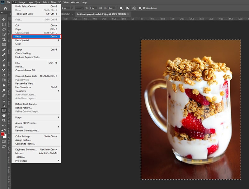 Paste Image to an Existing Layer in Photoshop