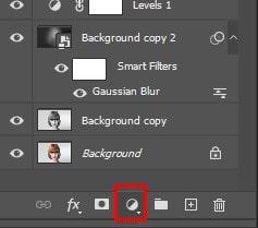 Adding Gradient Fill Layer