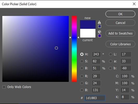 Color Picker Solid Color