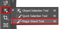 Magic Wand Tool in panel