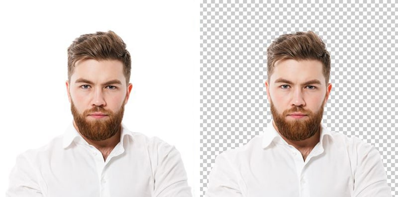 White Background Removal For Portrait Photo