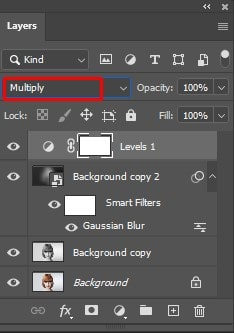 blend mode to multiply