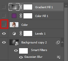 colorized layers are switched off