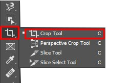 pick the crop tool