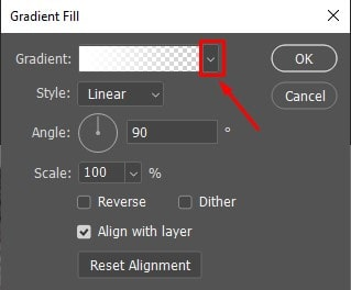 select the Gradient option