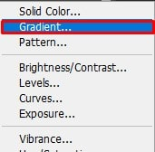 use a Gradient Fill layer