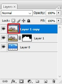 click on layer 1 copy