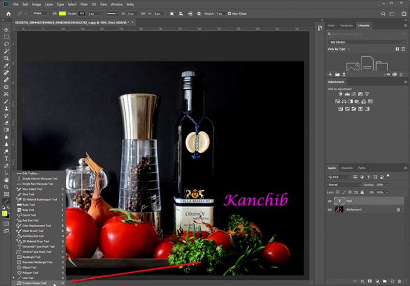 Photography Text Watermarking in Photoshop