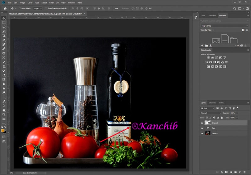 Photography Watermark symbol in Photoshop