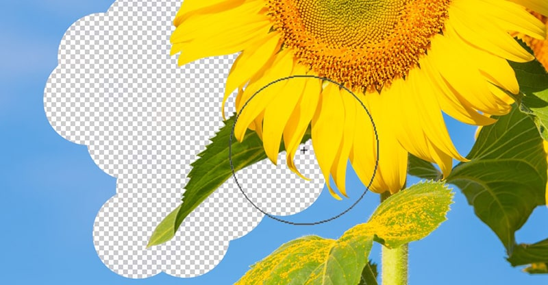 How to use eraser tool in Photoshop