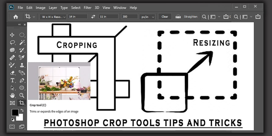 Photoshop Crop Tool for Image Cropping and Resizing