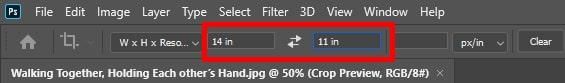 Put value in aspect ratio box