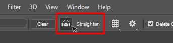 select the Straighten Tool too
