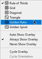 selecting the Golden Ratio