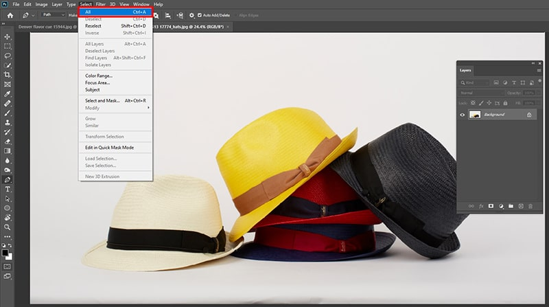 How to Copy a Layer Elements in Photoshop