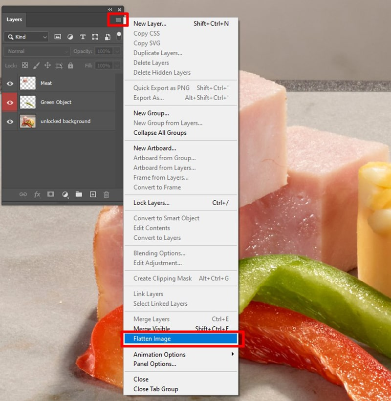 How to Flatten Layers in Photoshop