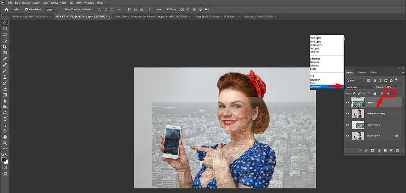 Layers Blending Photoshop