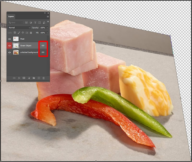 Link Layers in Photoshop