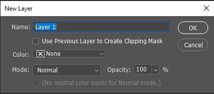 Select a New Layer