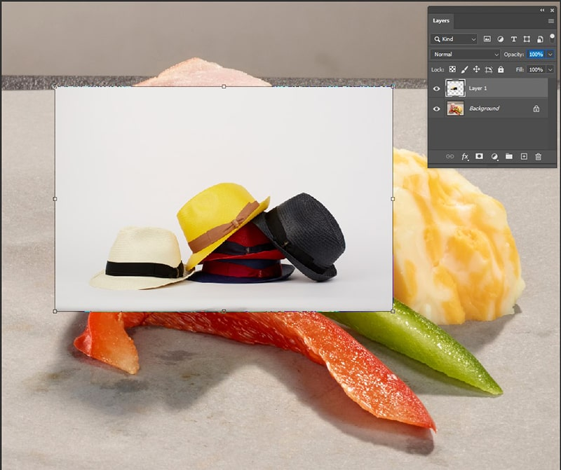 new layer in your Photoshop document
