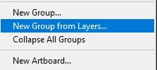 select New group from layers