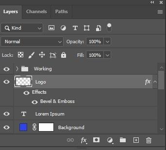 select the layers above the selected layer