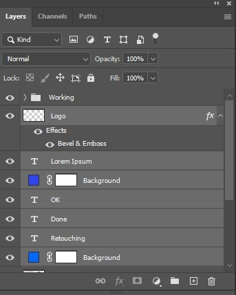 select the layers you want to group