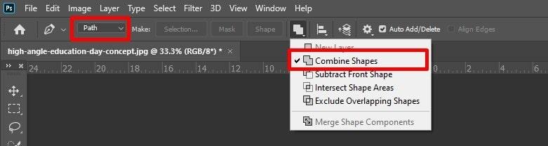Combine shapes option