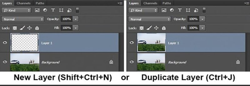 Create new layer to be Clone Stamp Tool Photoshop Master