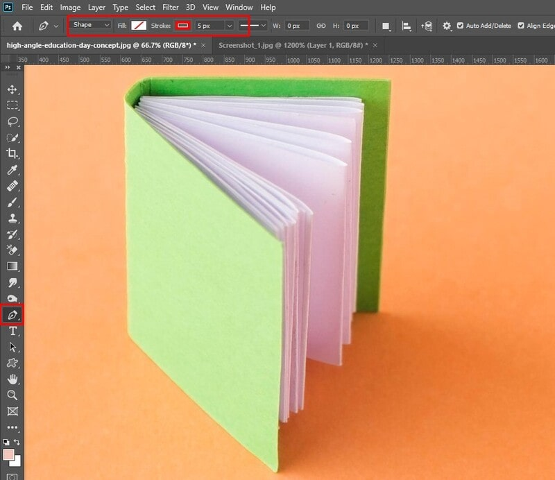 How to Create a Shape Using the Pen Tool