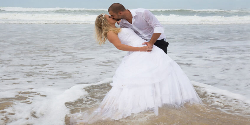 Beach Engagement Photography For Water Motion