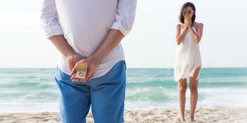 Beach engagement photography idea