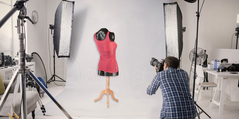 Shooting Ghost Mannequin Photo in a Studio