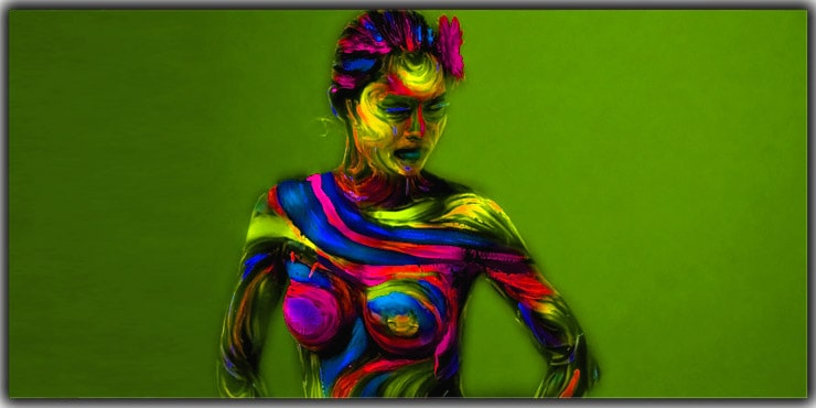 Portrait Ideas Adorn The Body With Painting