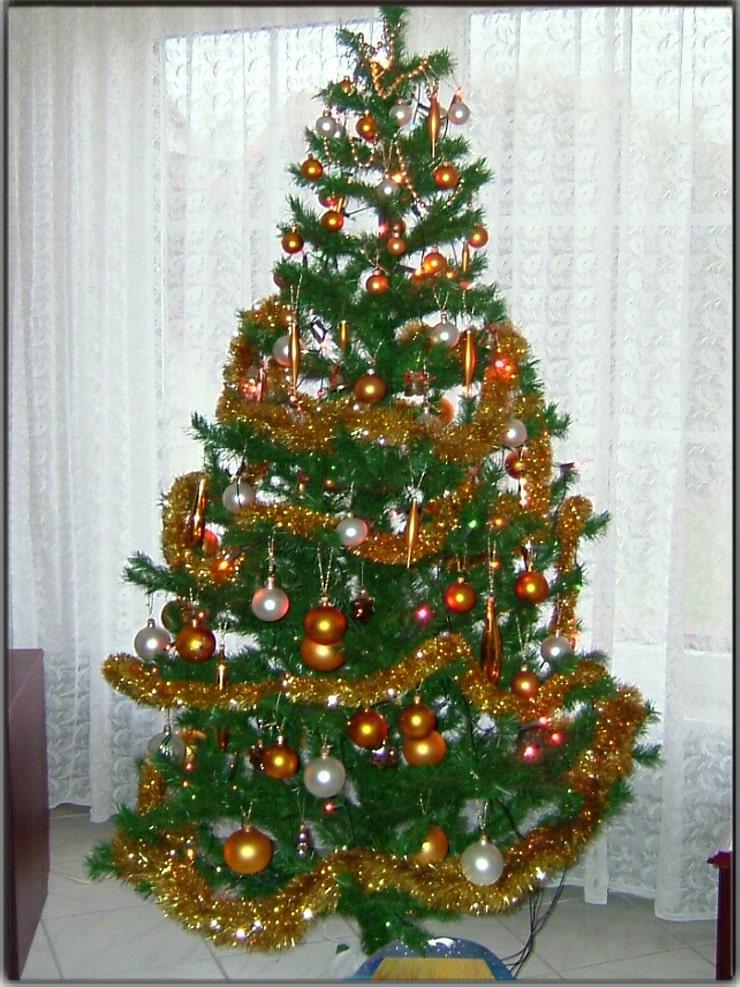 Emphasizing the Christmas tree