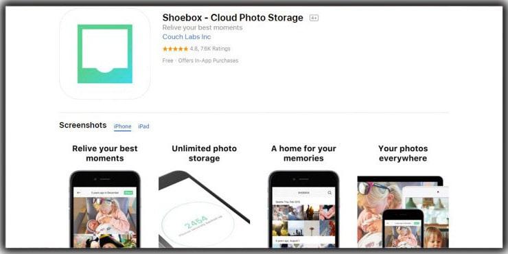 Best Photo Storage Apps Shoebox